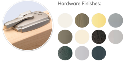 window replacement hardware finishes